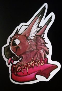 Telephone Badge by SafireCreations