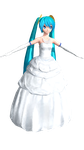 [DT] Wedding Miku [WIP1] by PiettraMarinetta
