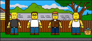Lego'd King of the Hill group by Ripplin