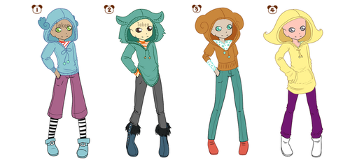 Adoptable outfits by scribblin