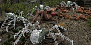 Robot Spider Attack 01 of 12 by LithographicDan
