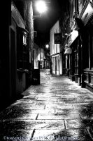 Wet night in Back St by TonyPringle