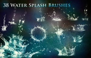 38 Water Splash Brushes by XResch