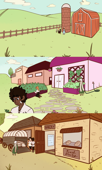 Sidequest - Chapter 01 backgrounds by TheKingKez