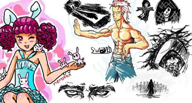 iscribble doodling by swordofdeath