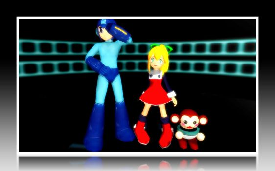 MMD Megaman and Roll by MikeLaruku