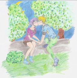 CH20- NaruHina kiss by COLAD-art-gallery