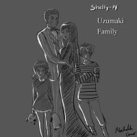 Dark Uzumaki Family by shelly-14