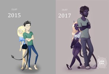 2 years... by LyraTea