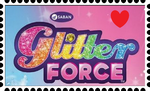 Glitter Force Fan Stamp by mewmewspike