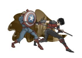Robin vs Bucky by vdwjohn