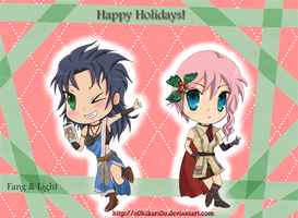 FFXIII Holiday greetings by o0Hikari0o