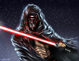 Truth is written in Blood - Darth Revan Fanart v2 by LadyLoth