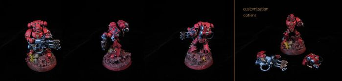 Blood Angels tactical marine with heavy flamer by ZealSight