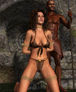 CAVEWOMAN: Cannibal Night! by Furbs3D