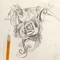 197- Rose Dragon by Lucky978