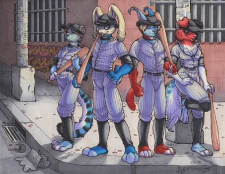 The Baseball Furries by Quaylak