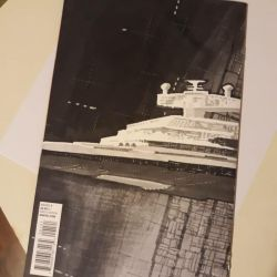 Imperial Destroyer and Death Star Blank Cover Art by draldede