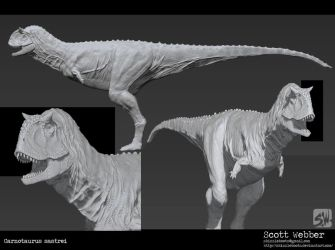 Carnotaurus Sastrie Zbrush WIP by SkizzleBoots