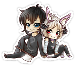 COMM: Yandere Couple Page Doll Sticker by 0chen