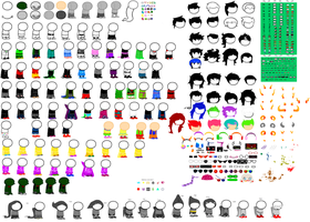 Homestuck Canon Sprite Bases by Canine-tier