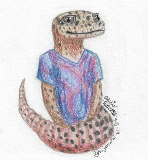 Leopard Gecko OC - halfbody mini sketch