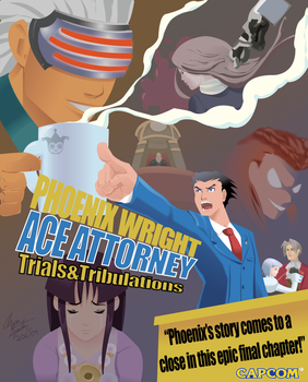 Phoenix Wright Vector poster by lyssaspex
