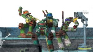 2012 TMNT: Brother Time Colored by FlowerPhantom