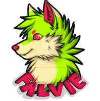 Falvie Bust Badge by Wonderlandawaitsus