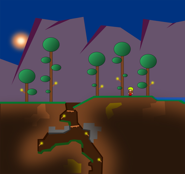 The First Night in Terraria by MikePestr