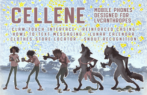 Cellene: Cell Phones for Lycanthropes by nothere3