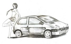 The girl and the car by Glaubart