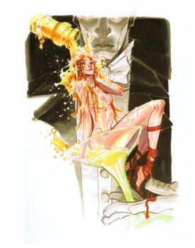 CHAMPAGNE, RED SHOES_commissio by EricCanete
