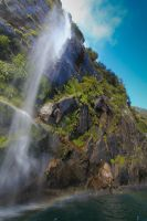 Milford Sound Waterfall by Bobby01