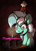 Human Horse Enjoys Delicious Birthday Cake by WitchTaunter