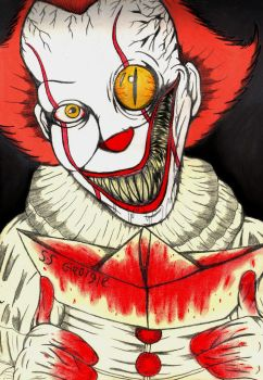Pennywise by charcoalman