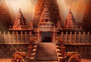 Temple Concept 1 by Baahubali