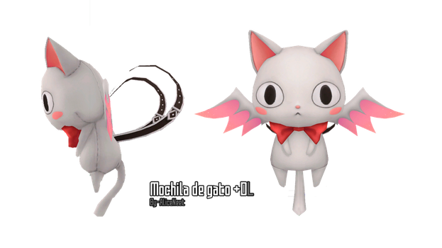 Cat backpack:  MMD DL by AliceNeet