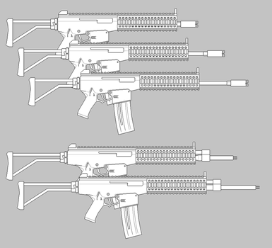 SA-AR-2 ''Pitbull'' Carbines and Rifles by parakitteh