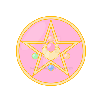 Sailor Moon Pastel Crystal Star Locket by oyamaanza