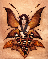 Autumn Faery Illustration by Aretalogus