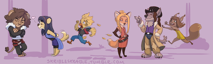 The whole gang by skribleskrable
