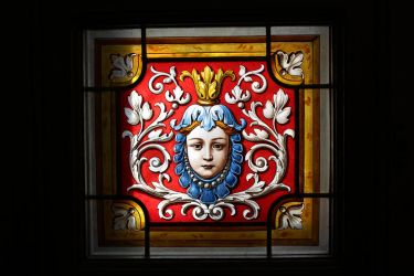 Detail of Stained glass by DelphineHaniel