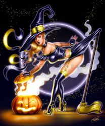Halloween- Witch pinup by rafater