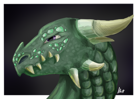Commission for Archserpent: dragon bust by plexusdynasty
