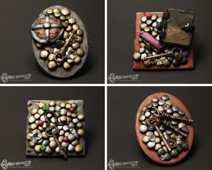 Loot Drop: Polymer Clay Magnets by KindredWhispers