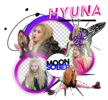 HYUNA (LIP AND HIP BEHIND THE STAGE)-PNGPACK #4 by MoonSober