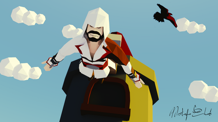 Low Poly The Leap of faith - Assassin's Creed by M-Ehab