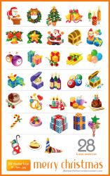 28 christmas vector icon RS by mohsenfakharian