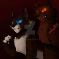 Hawkfrost and Tigerstar by xxmidnight12xx